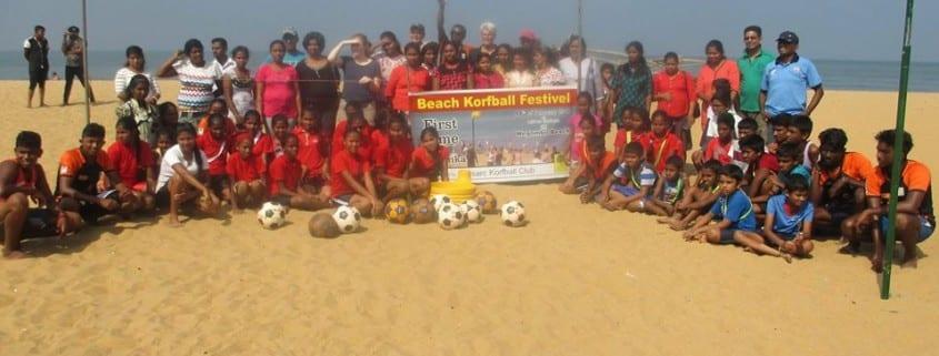 Sri Lanka Beach Korfball Activity