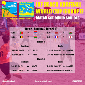 Match schedule seniors day 2 square